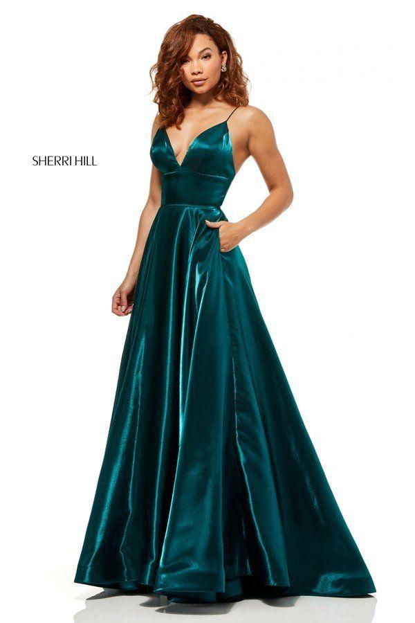 760c59f898e1a9 Sherri Hill Style 52424 Emerald Size 2