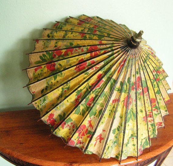 Antique Floral Parasol