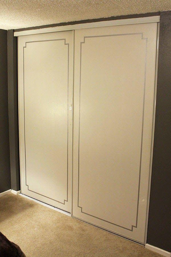 Nice Tiny Ass Apartment: Fancy Pants Closet Doors With Washi Tape