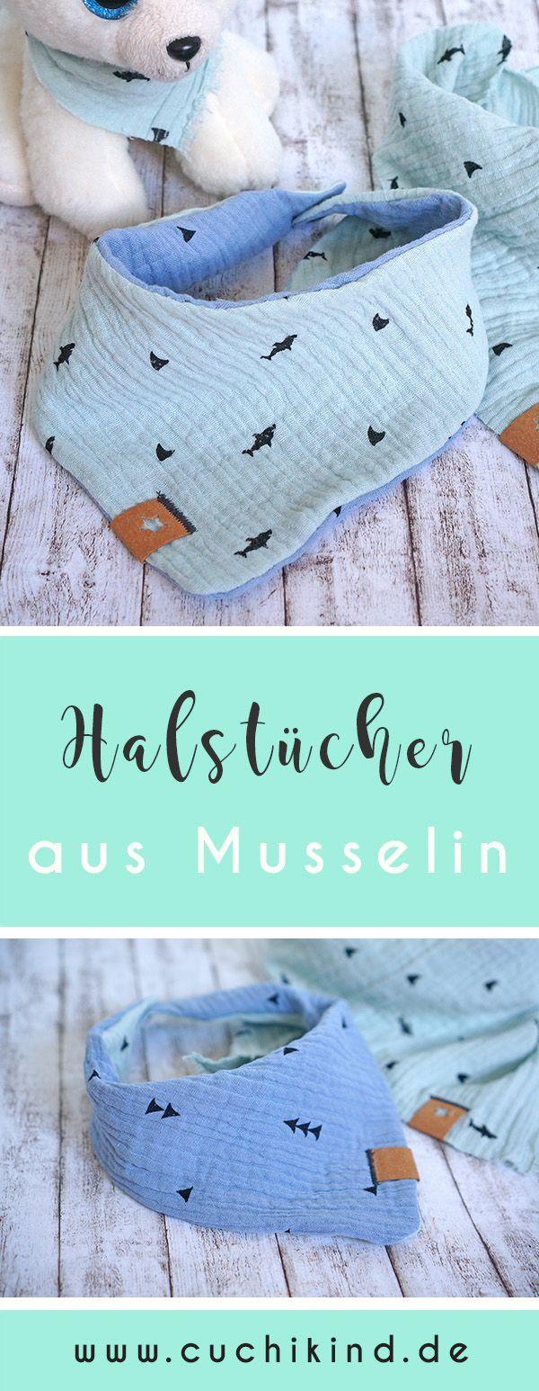 Photo of Mit Musselin nähen – dreieckige Schals für Kinder – Cuchikind