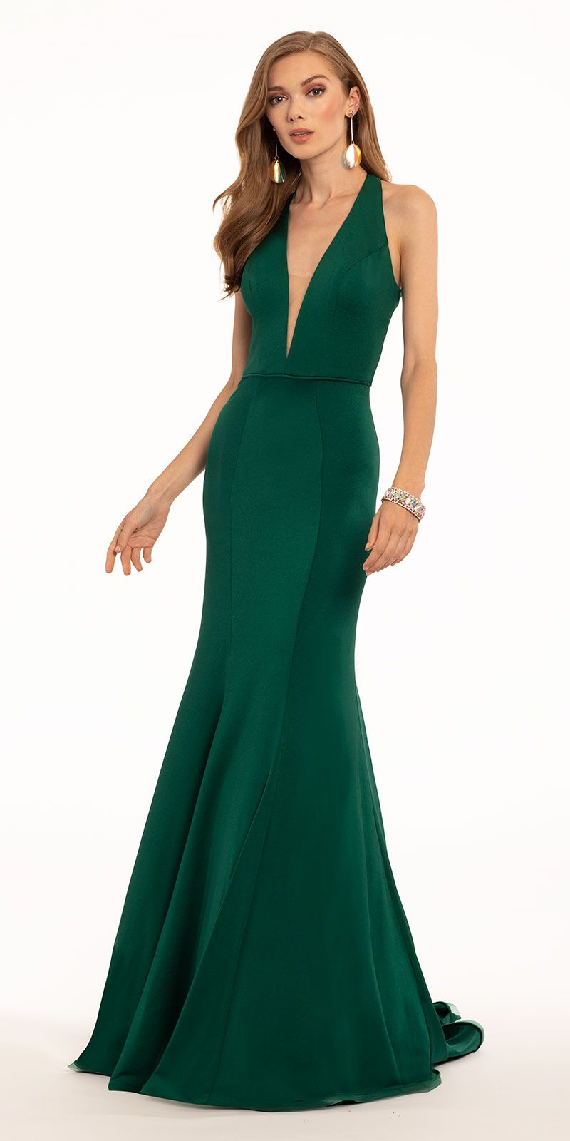 Halter Plunge Keyhole Back Mermaid Dress Dresses Formal Wedding Guest Dress Mermaid Dress [ 1600 x 800 Pixel ]