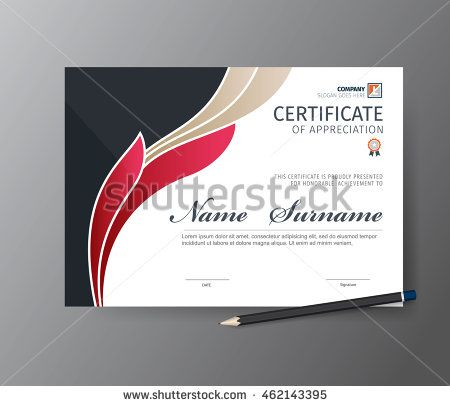 Vector template for certificate or diploma page Pinterest