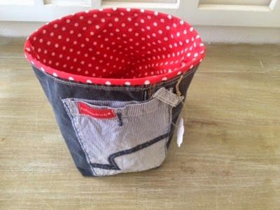 Utensilo aus alter Jeans / Organizer made from old pair of jeans / Upcycling