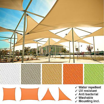 Sun Sail Shade Garden Canopy Sun Awing Cover Waterproof Patio Sunscreen Large  sc 1 st  Pinterest & Sun Sail Shade Garden Canopy Sun Awing Cover Waterproof Patio ...