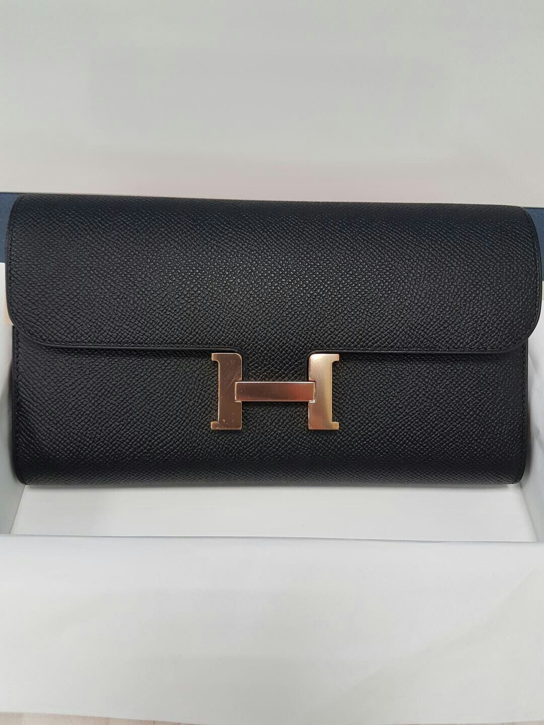 31e1ef444310a ... wholesale model hermes constance clutch condition new color black  leather epsom hardware rose gold comes with