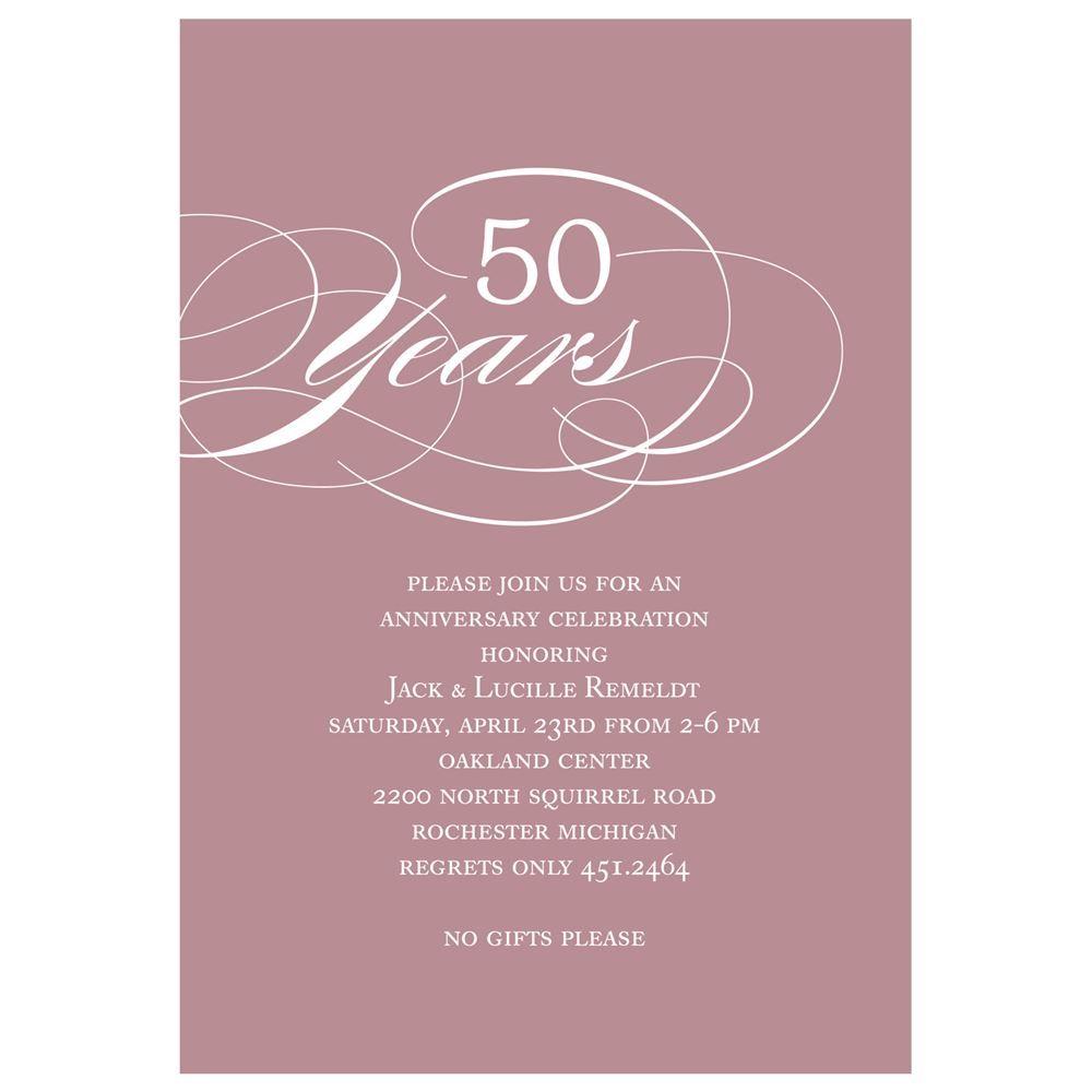 Classy Script and Colorful -- Anniversary Party Invitations ...
