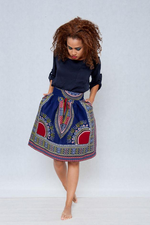 Ballonrock mit afrikanischem Muster, Ethno Stil / beautiful skirt ...