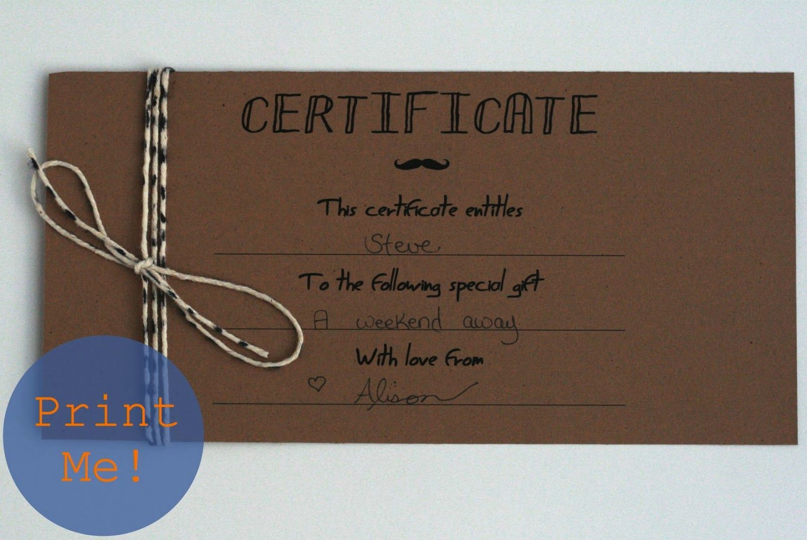 Gift certificates for Perfect