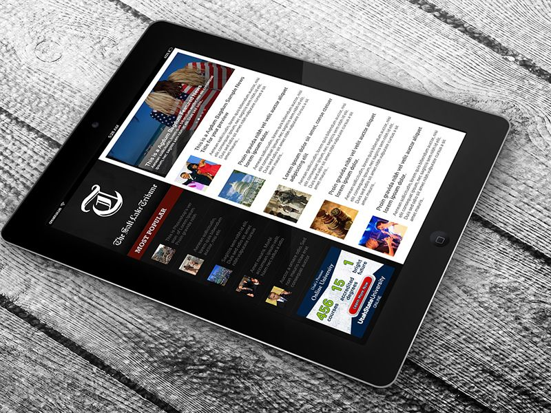 Salt Lake Tribune Ipad App Prospective Mockup Tribune Ipad Apps Mobile App