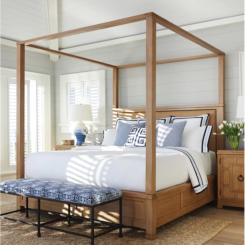 Newport Upholstered Canopy Bed Bed furniture, Bed