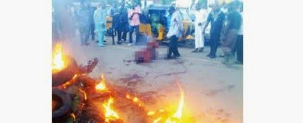 JUNGLE JUSTICE: Three suspected robbers set ablaze in Ogoja - http://www.77evenbusiness.com/jungle-justice-three-suspected-robbers-set-ablaze-in-ogoja/