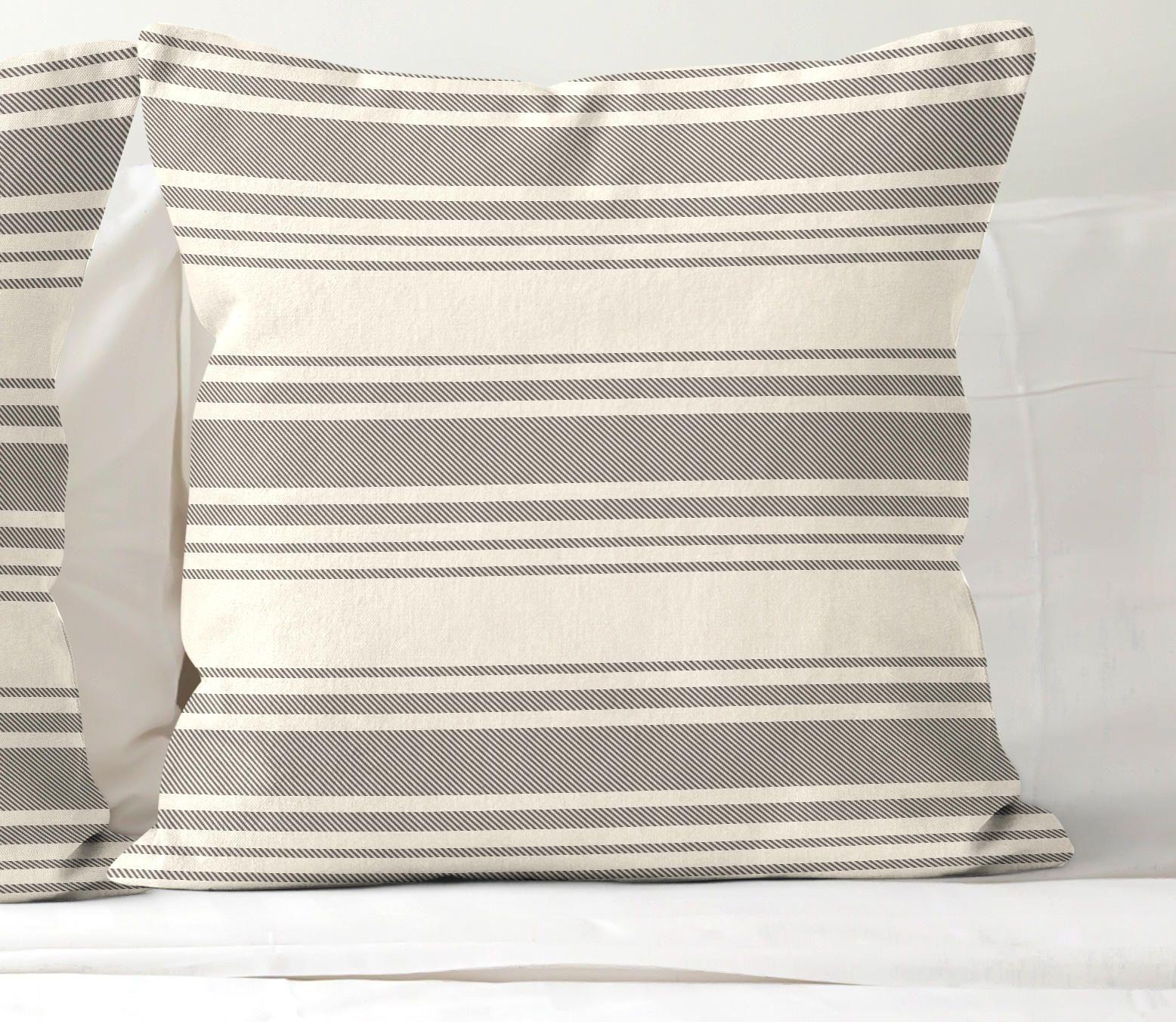 Farmhouse Ticking 24x24 Pillow Cover