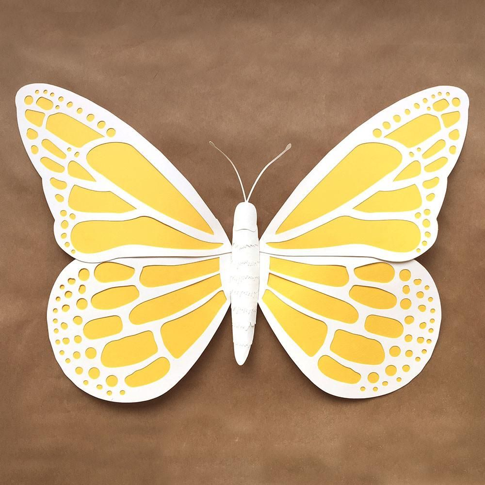 diy large paper butterfly template  svg  dxf and pdf