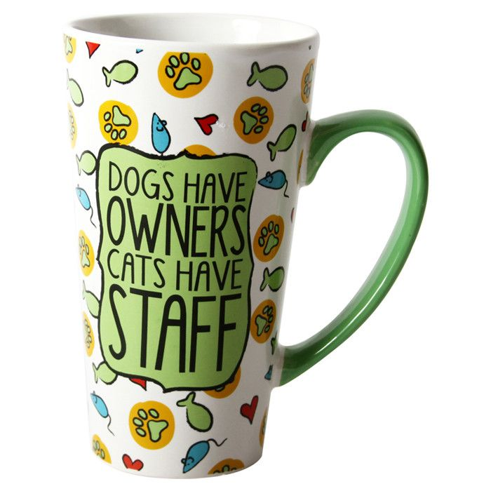 Cats Have Staff Latte Mug