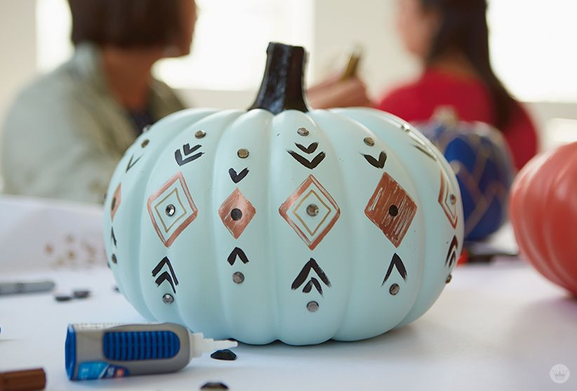 Easy Pumpkin Painting - Think.Make.Share. -   19 easy cute pumpkin painting ideas