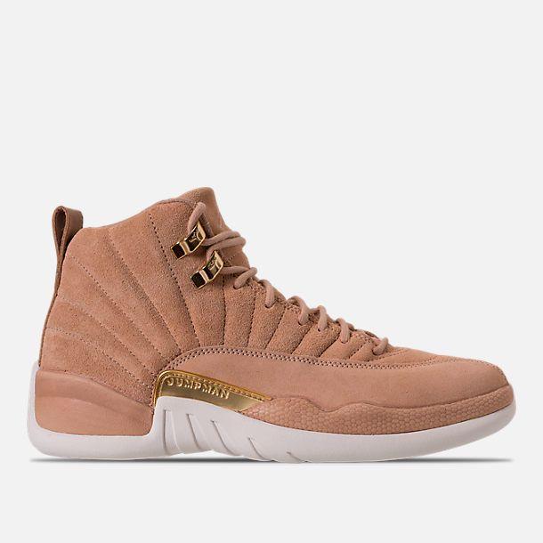 70503ed7f29 Right view of Women's Air Jordan Retro 12 Basketball Shoes in Vachetta Tan/ Metallic Gold/Sail