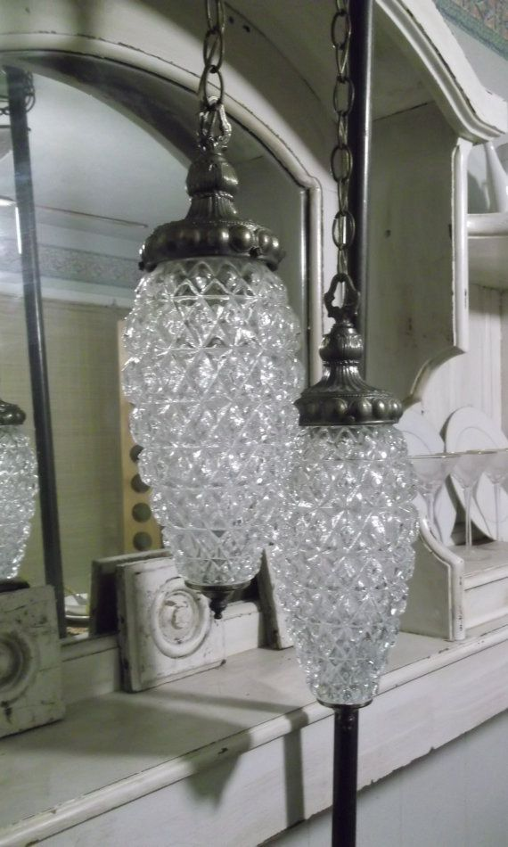Etonnant Hollywood Regency Double Swag Glass Lamp Shabby. These Are Almost Exactly  The Same As My Grandmau0027s Were. I Love/miss Them So Much