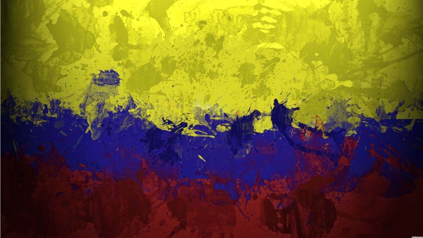 Wallpapers Medellin Colombia 1366x768 337229 Medellin Colombia Wallpaper Painting Colombia Flag
