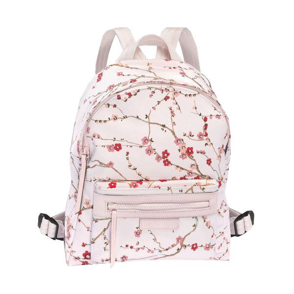 Longchamp Le Pliage Neo Fantaisie Sakura Small Backpack ( 380) ❤ liked on  Polyvore featuring bags 8be07c6d3b733