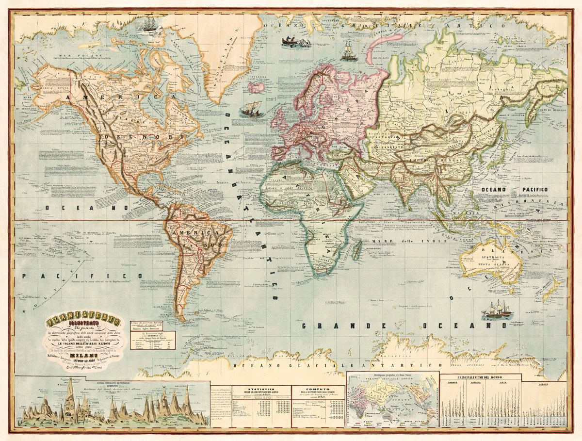 Map of the world from 1883 vintage maps pinterest vintage maps map of the world from 1883 gumiabroncs Choice Image