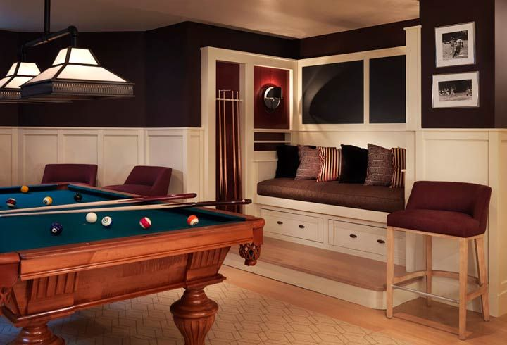 Comfortable Room In The House Pool Table Room Pool Table Billiards Room Decor