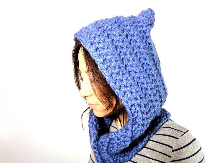 video tutorial diy como hacer tejer cuello capucha hood hoodie ...