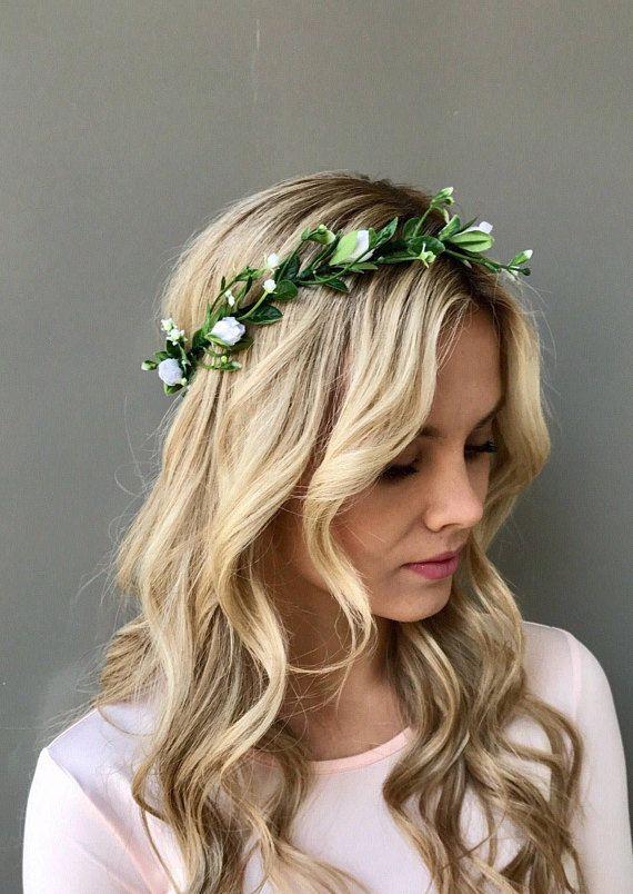 Adult greenery crown wedding floral halo maternity floral crown simple floral crown photography prop wedding crown. greenery halo