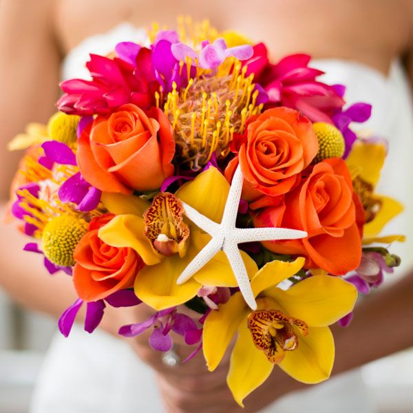 70 ideas for beach weddings seashell bouquet beach weddings and starfish. Black Bedroom Furniture Sets. Home Design Ideas