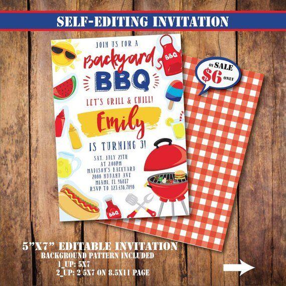 self editing bbq party invitation printable backyard bbq birthday