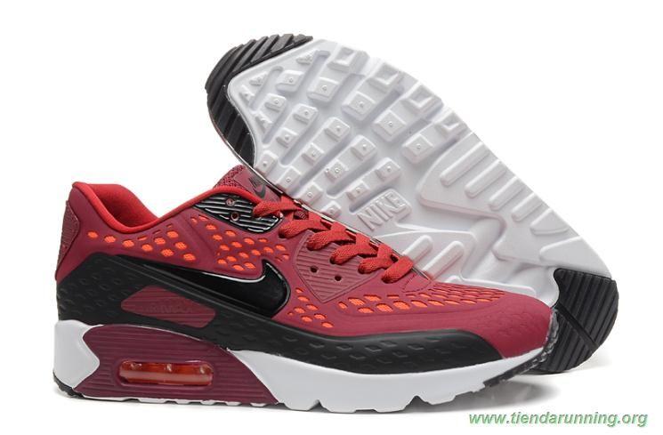 big sale 2a398 a0533 526383-396 Nike Air Max 90 Ultra BR Blanco Burgundy Negro oferta zapatillas  running