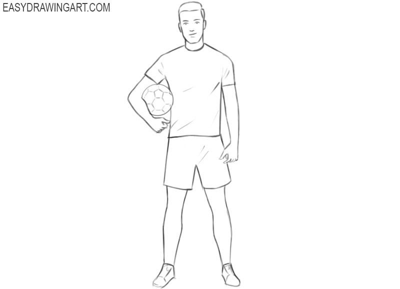 How To Draw A Football Player Easy Easy Drawing Art Football Players Football Player Drawing Easy Drawings