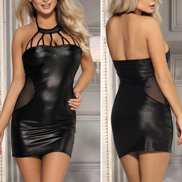 26++ Black wet look midi dress ideas in 2021