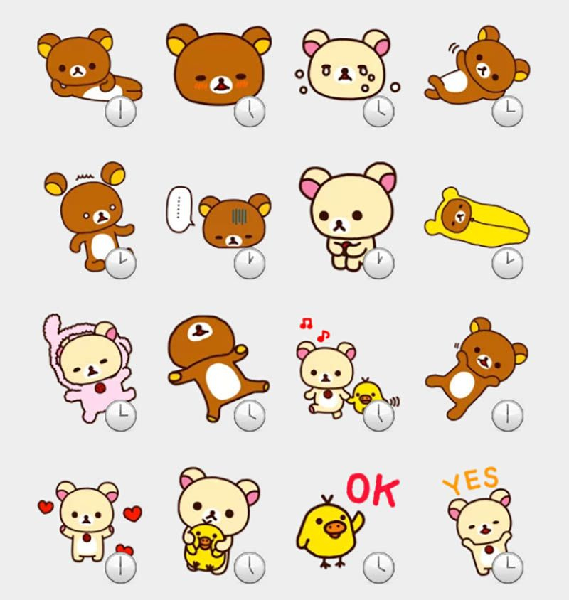 rilakkuma stickers set | stickers | pinterest | hojas de notas