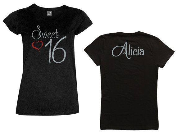 Sweet 16 Birthday Shirt All Glitter You By MagicalMemoriesbyJ
