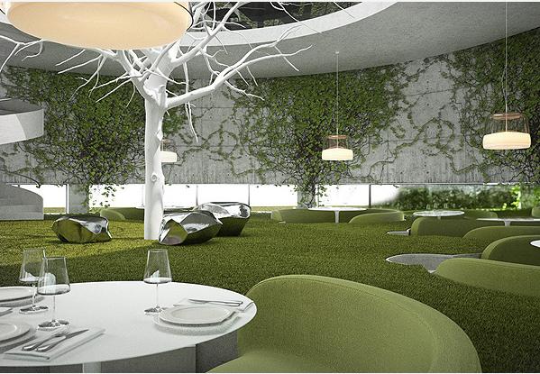 Restaurant design tea garden concept by sergey