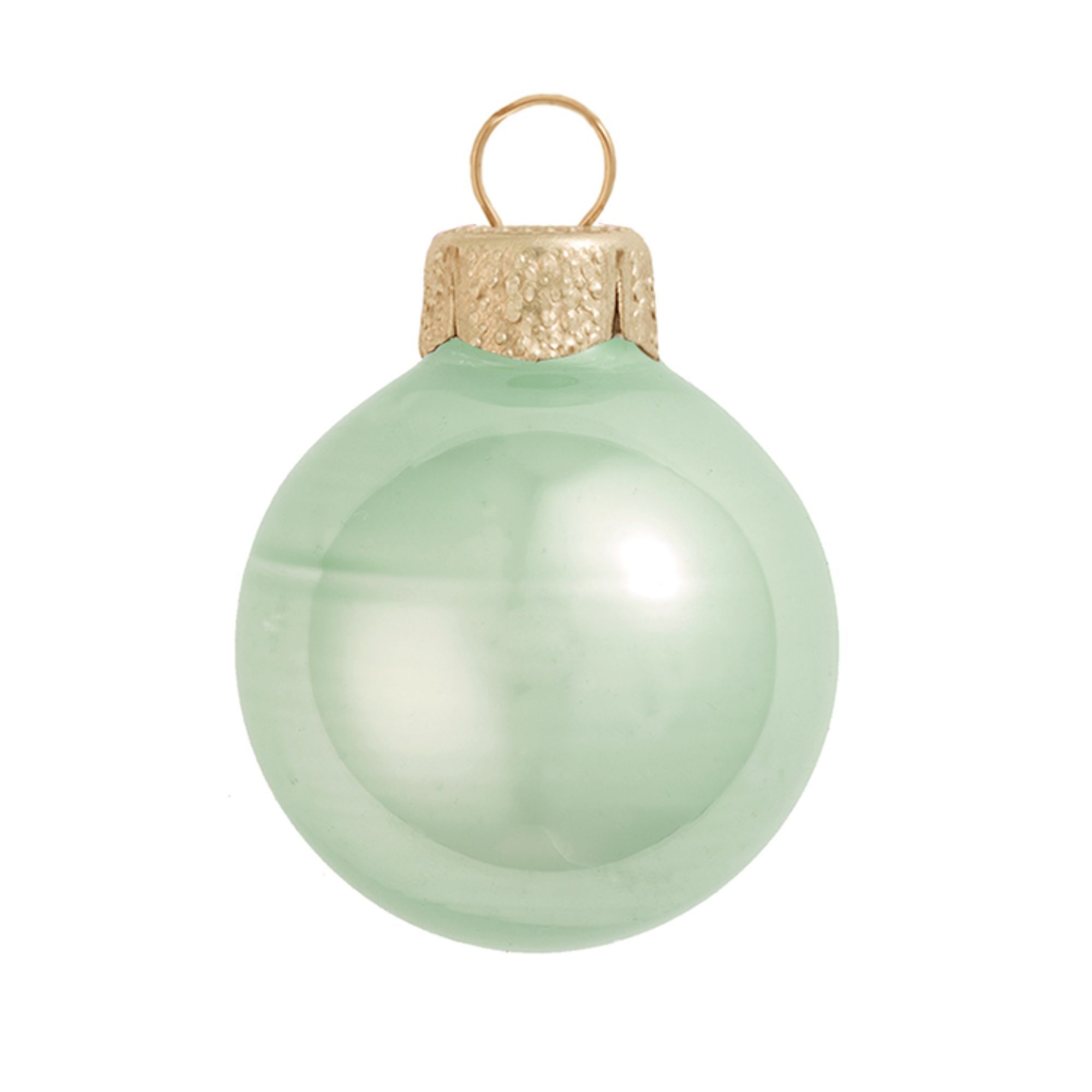 40ct Shiny White Glass Ball Christmas Ornaments 1.5 40mm