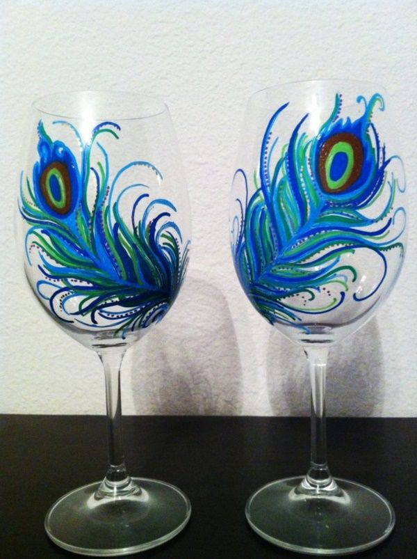 42 Beautiful Glass Painting Ideas And Designs For Beginners Glass Painting Designs Wine Glass Crafts Hand Painted Wine Glasses
