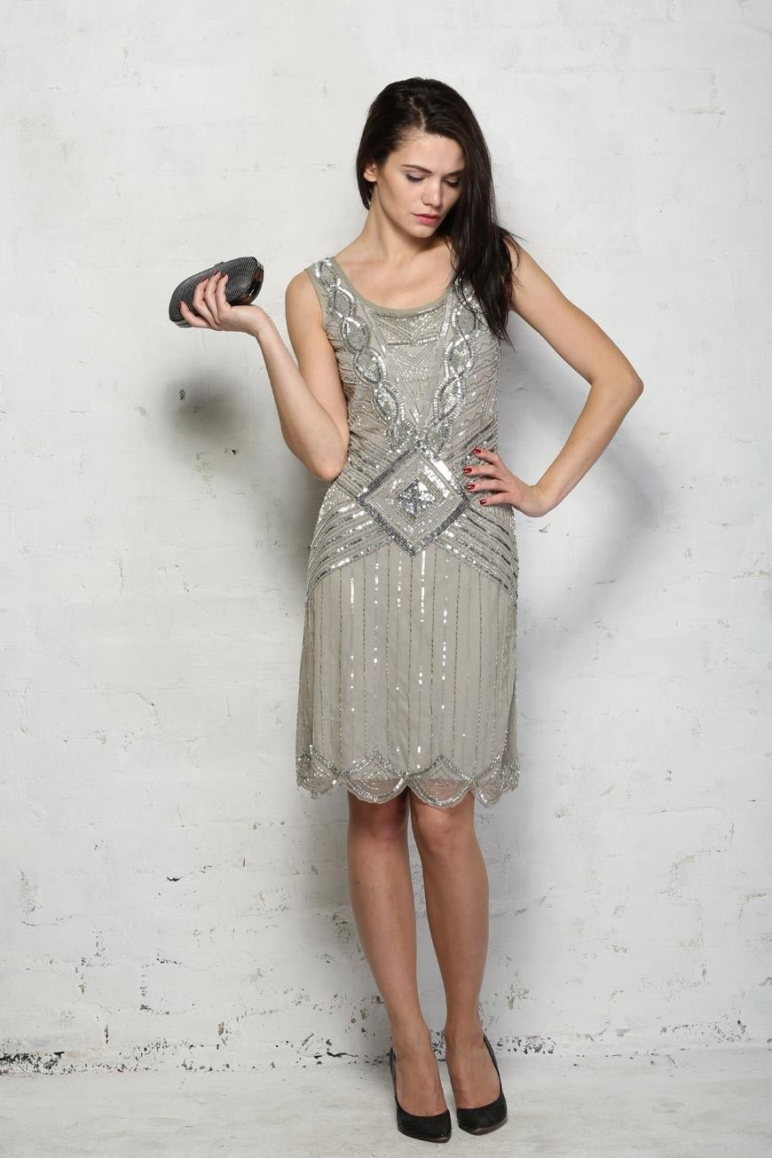 Frock & Frill Grey 20s Style Dress Frock & Frill Athena