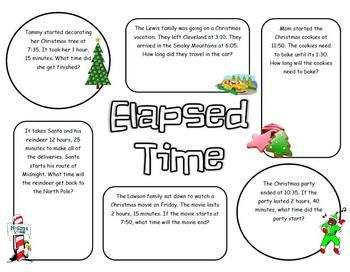 this is a worksheet with six elapsed time word problems the questions are christmas themed. Black Bedroom Furniture Sets. Home Design Ideas