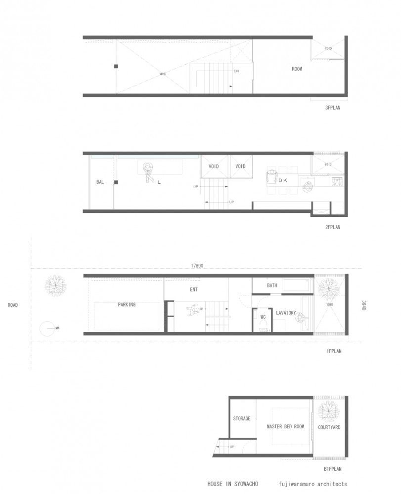 House in Showa-cho / FujiwaraMuro Architects | Architects, House and on houses in tokyo japan, narrow house interior design, small apartment building in japan, micro houses in japan, tall skinny building in japan,