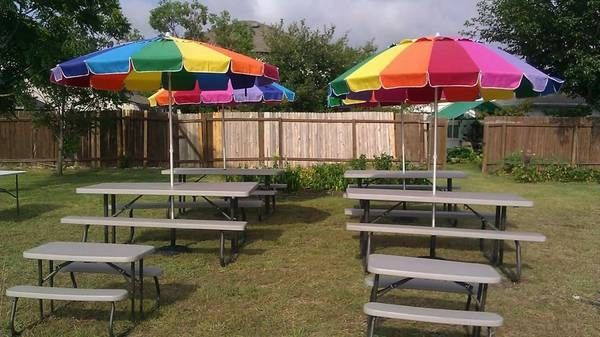 Tables U0026 Chairs Rental/ Picnic Table With Umbrella Shade (210) 739 .