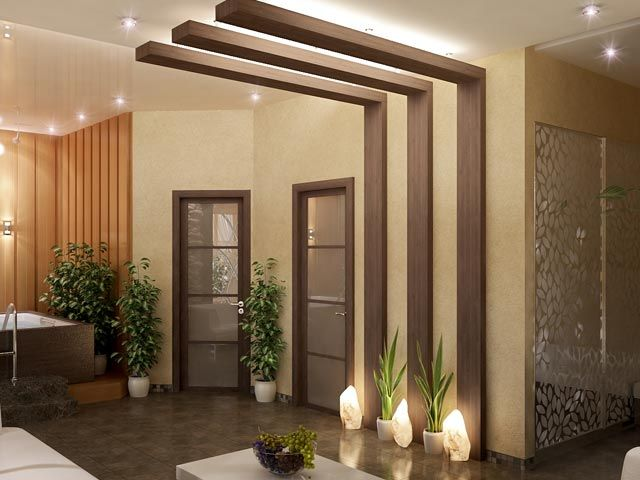interior design spa doors wooden ideas INTERIOR Pinterest