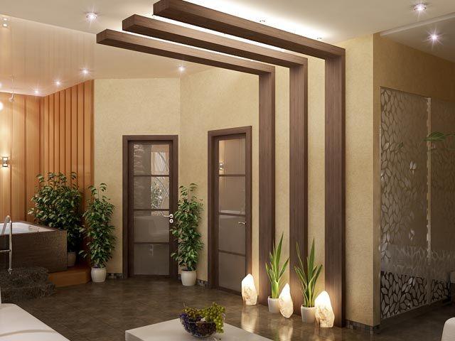 Delightful Interior, Design, Spa, Doors, Wooden, Ideas