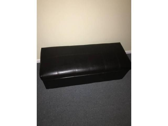 Used faux leather storage ottoman for sale - Used Faux Leather Storage Ottoman For Sale Ottoman Chair For