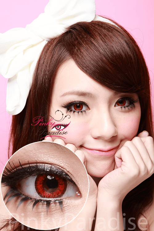 Venus Eye Bright Red Circle Lenses (Colored Contacts