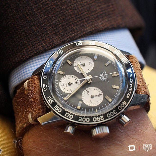 When the first new model was launched under the guidance of then-CEO Jack Heuer in 1962, the Heuer Autavia immediately became an integral part of our heritage. @bzabodyn214's stunning vintage Heuer Autavia 2446c is just one of manyfrom the famous range. Thanks for the share!Stay tuned... we'll be re-issuing the new TAG Heuer Autavia model you chose in 2017! #DontCrackUnderPressure #Regram #VintageHeuer #HeuerAutavia #Autavia2017 #Vintage #Heritage