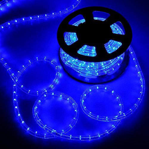 Yescom 50ft Blue Led Rope Light Indoor Outdoor Holiday Valentines Party Disco Restaurant Cafe Decoration 100 Led Rope Lights Outdoor Holiday Decor Rope Light
