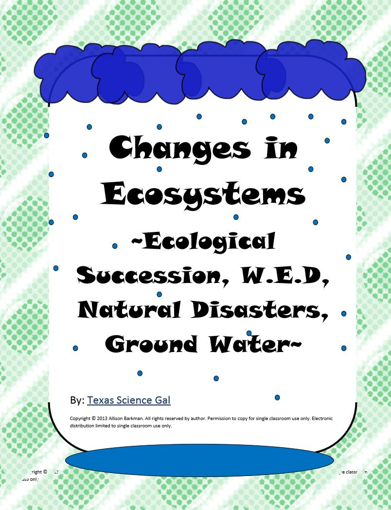 Changes In Ecosystems Quick Write Bell Ringers Quick Writes Ecology Lessons Middle School Science Teacher [ 1049 x 804 Pixel ]
