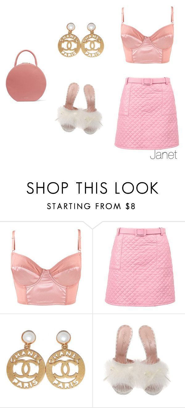 """""""Barbie's Night out"""" by janetplanet ❤ liked on Polyvore featuring Forever 21, Chanel, Agent Provocateur and Mansur Gavriel"""