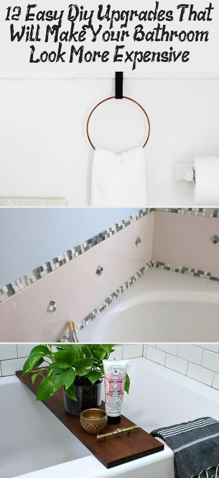 12 Easy Diy Upgrades That Will Make Your Bathroom Look More Expensive - Pinokyo -  12 Easy DIY Upgrades That Will Make Your Bathroom Look More Expensive #EasyDIYBookshelf #EasyDIYJew - #bathroom #DIY #diybedroomdecor #diyhomecrafts #diyhomedecorlighting #easy #easyhomediyupgrades #expensive #Pinokyo #upgrades